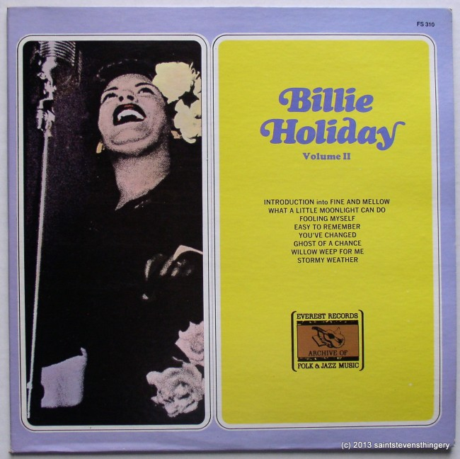 Billie Holiday Volume II cover front