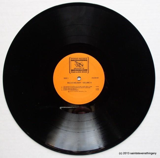 Billie Holiday Volume II side 1