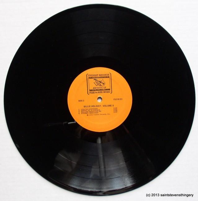 Billie Holiday Volume II side 2