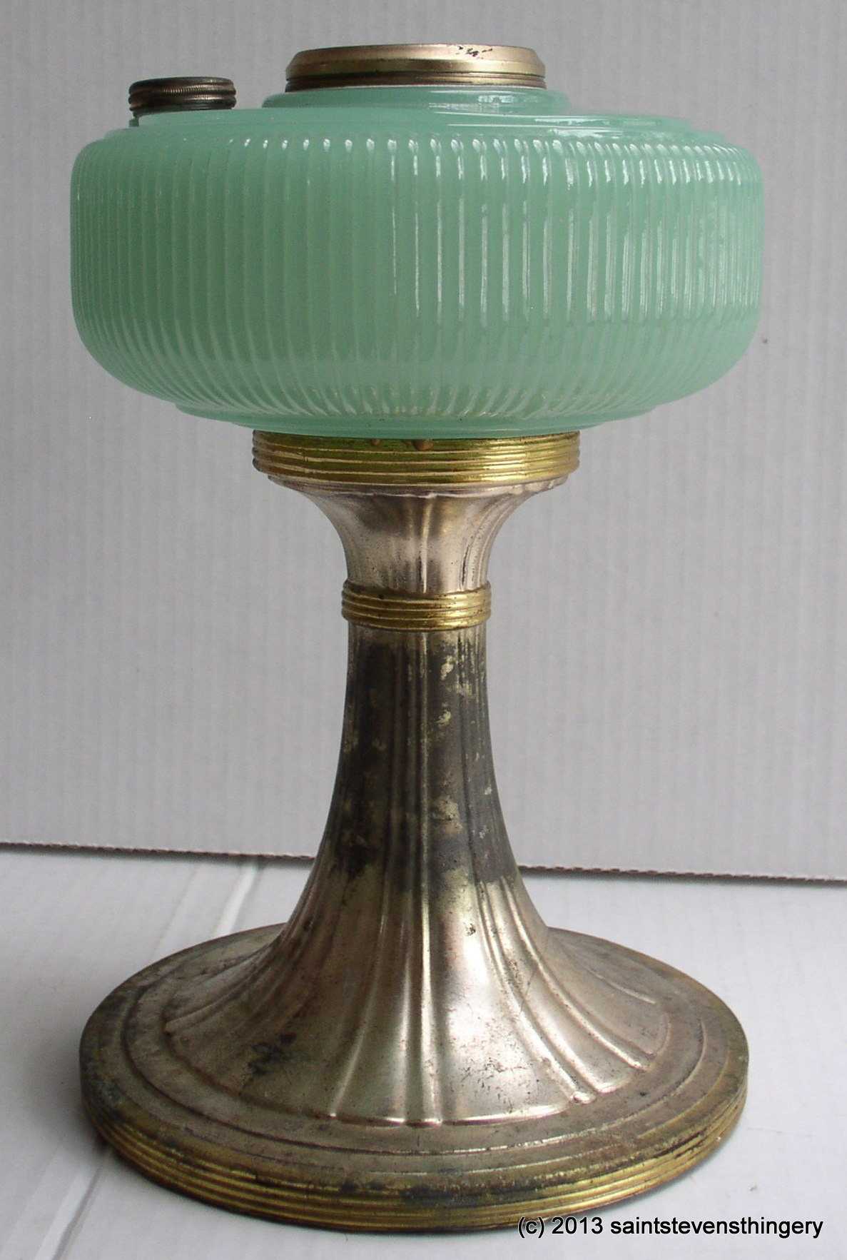 Aladdin Jade Green Queen Kerosene Oil Lamp Model B 97 1937
