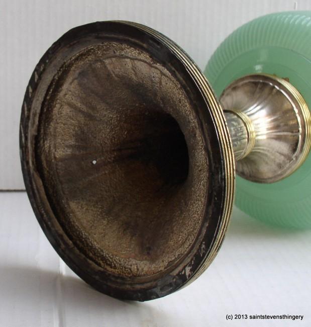 Aladdin Jade Green Queen Kerosene Oil Lamp Model B 97 1937