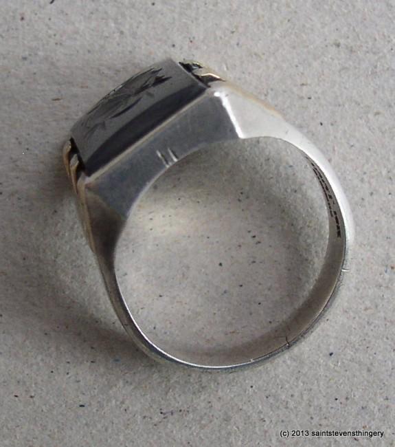 Hematite Intaglio Ring 2