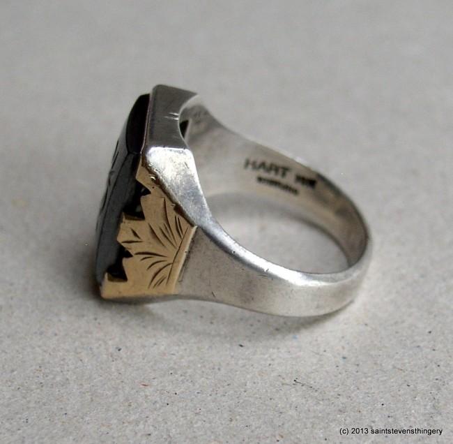 Hematite Intaglio Ring 7