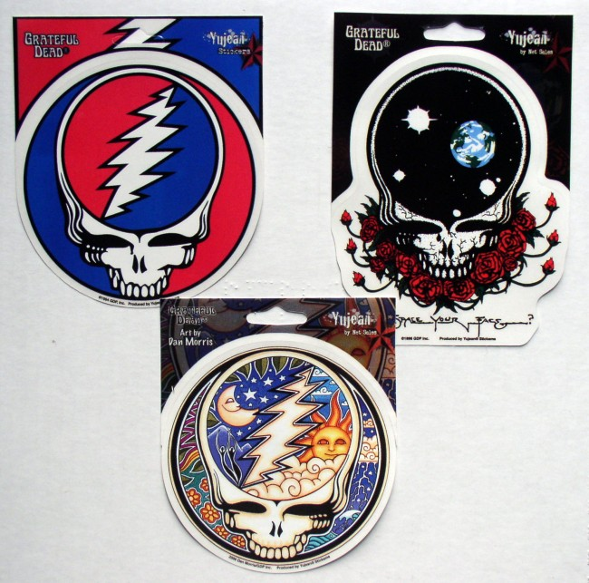 3 Grateful Dead Steal Your Face Decals