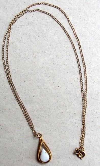 Chain Fire Opal Pendant 2