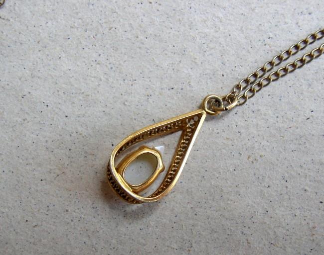 Chain Fire Opal Pendant 5