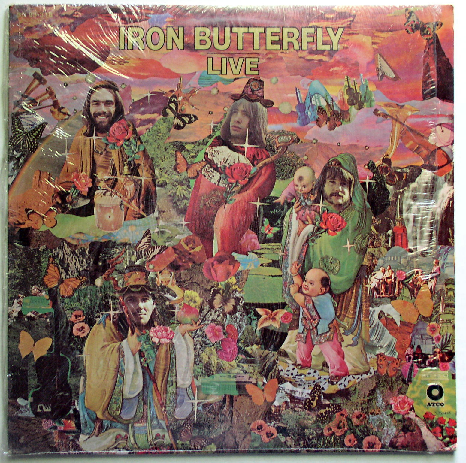 Lp Iron Butterfly Live Original 1970 Atco Pressing