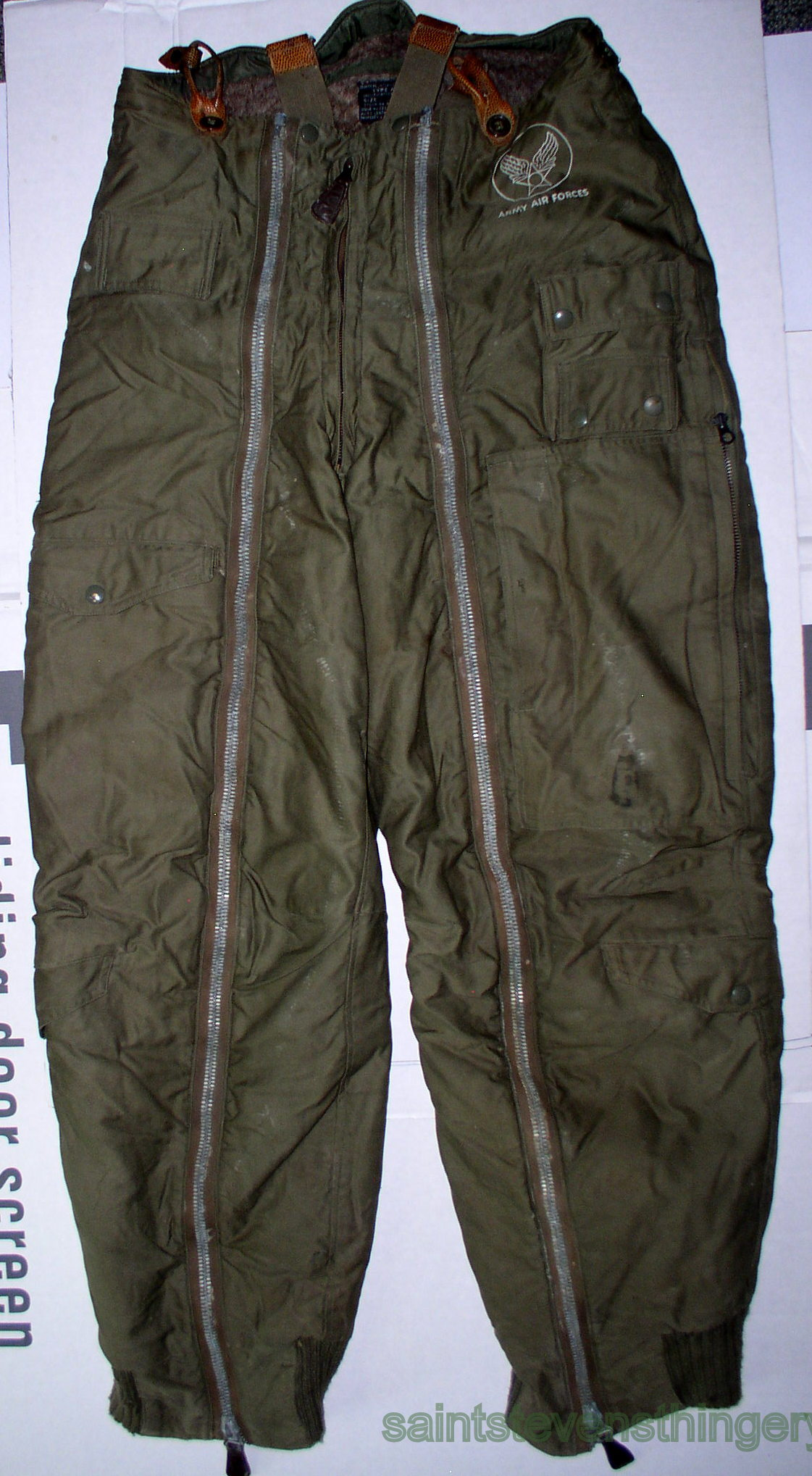 Wwii Us Army Air Force A 11a Bomber Flight Pants Trousers