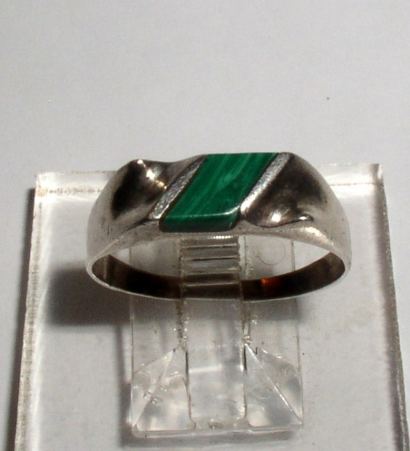 Sterling Malachite Ring 1