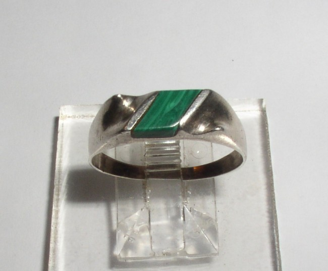 Sterling Malachite Ring 2