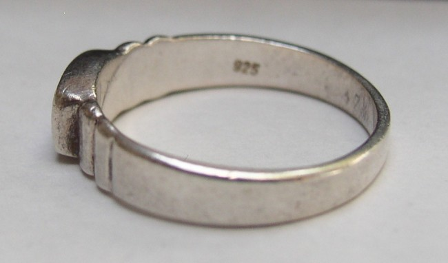 Sterling MOP Ring 6