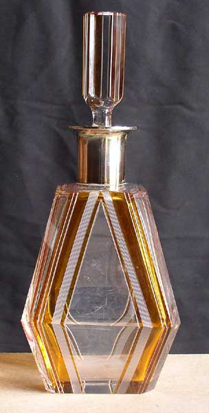 Art Deco Cut Glass And Silver Liquor Decanter 1