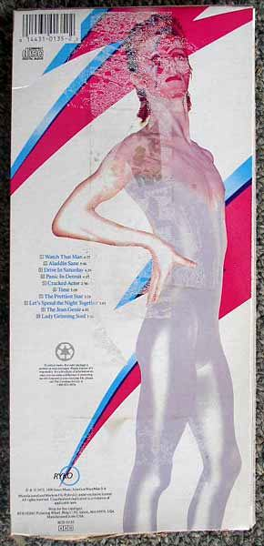 Bowie / Aladdin Sane longbox back