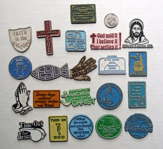 21 Vintage Rubber Magnets Christian Religious