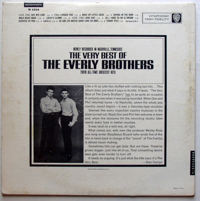 Everly Brothers / Very Best Of The Everly Brothers LP 2