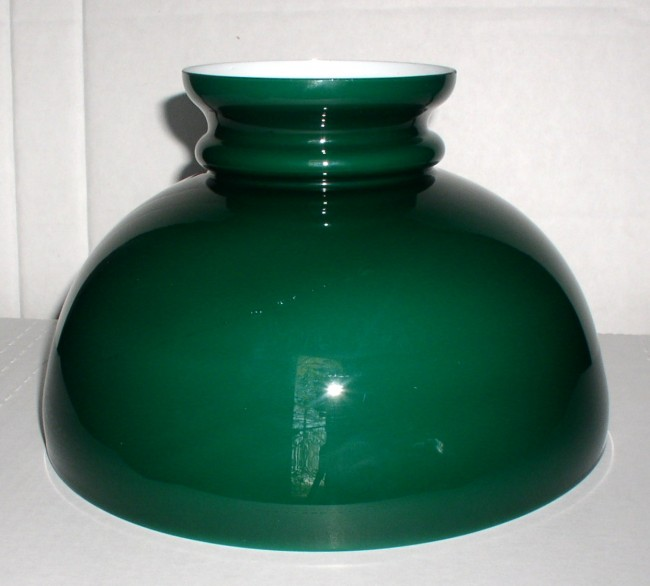 Green Cased Glass Shade 1