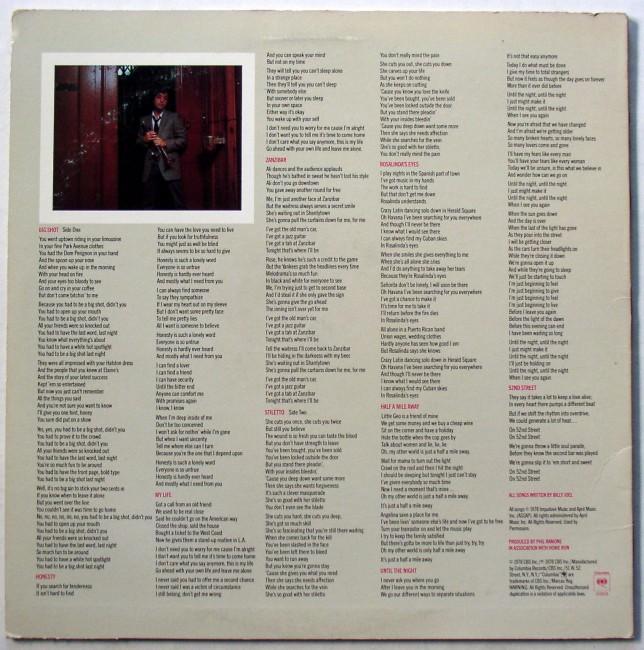 Billy Joel / 52nd Street LP 2