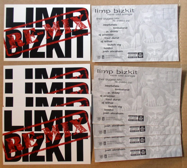 Lot Of 10 Promo Postcards Limp Bizkit / New Old Songs