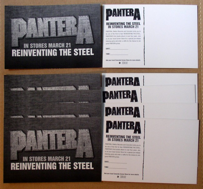 Pantera / Reinventing The Steel Postcard Lot