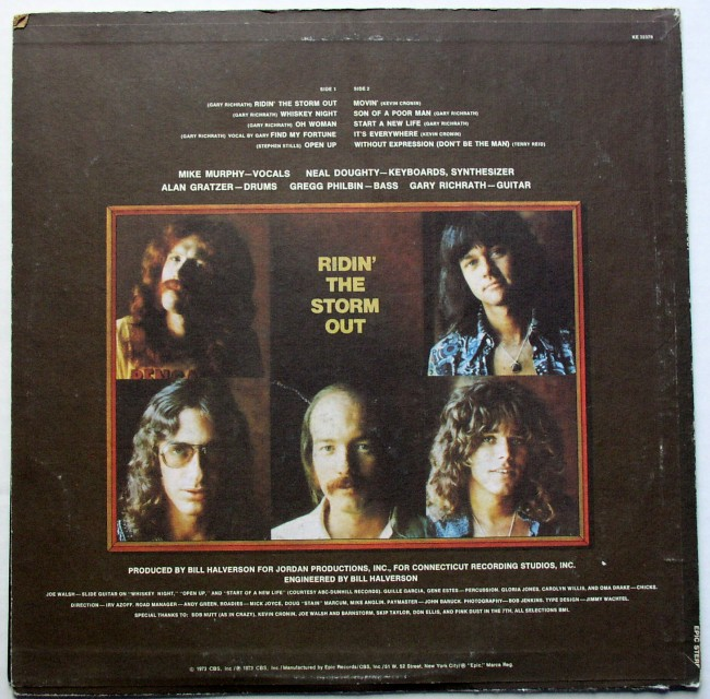 R.E.O. Speedwagon / Ridin' The Storm Out LP 2