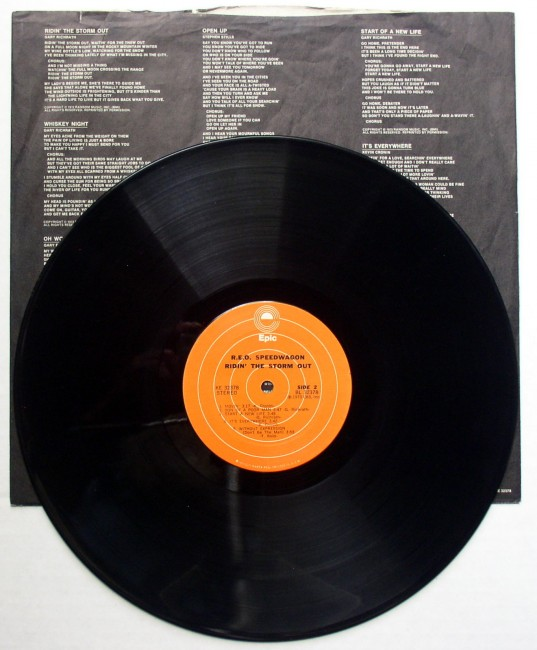 R.E.O. Speedwagon / Ridin' The Storm Out LP 4