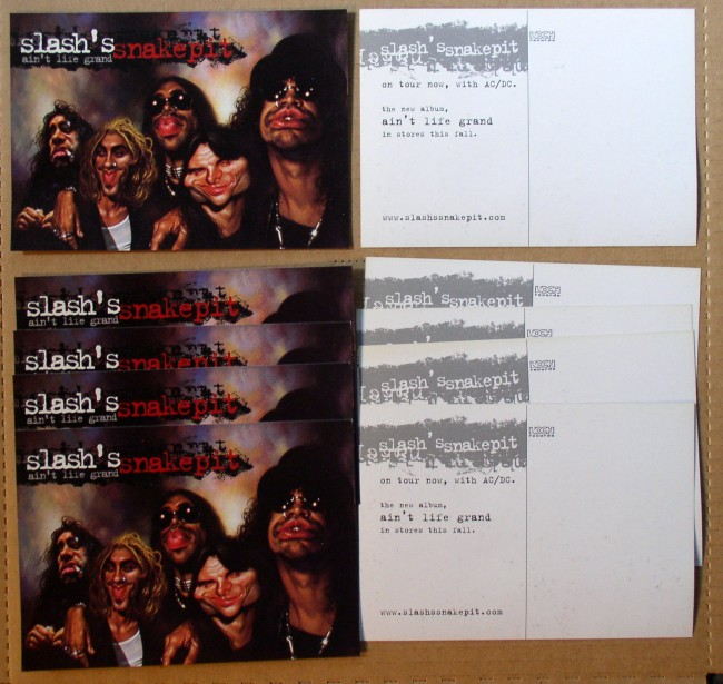 Slash's Snakepit postcard lot