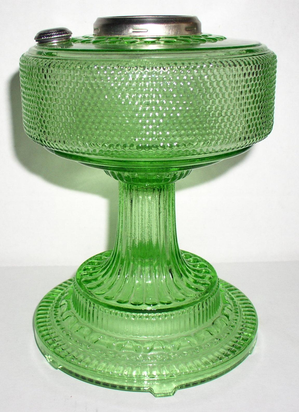 Aladdin 1938 Hobnail Colonial Style 105 Green Kerosene Oil