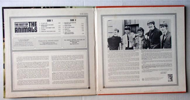 Animals / Best Of LP 1966 3
