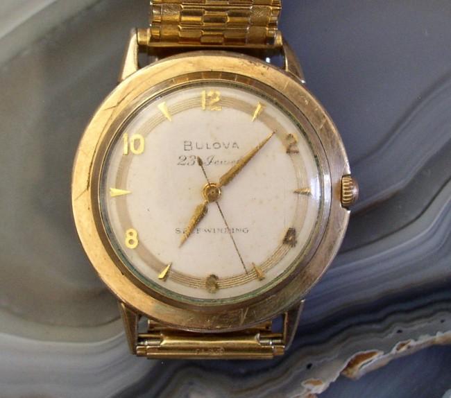 Vintage 1958 Bulova 23 Jewel Self Winding Men S Watch Runs