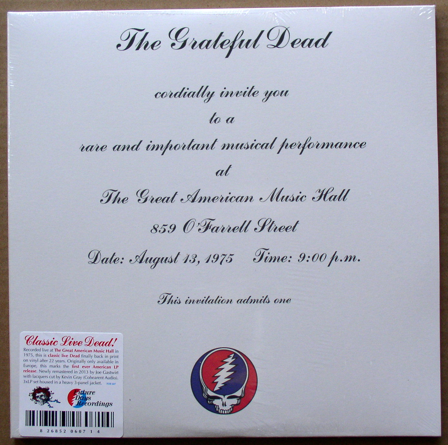 Grateful Dead One From The Vault Thingery Previews Postviews