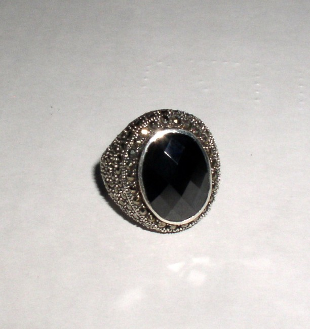 Sterling Marcasite Ring 1