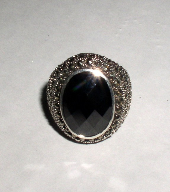 Sterling Marcasite Ring 2