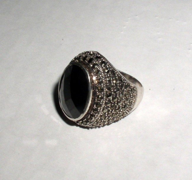 Sterling Marcasite Ring 3