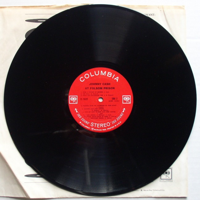 Johnny Cash / At Folsom Prison LP 1968 4