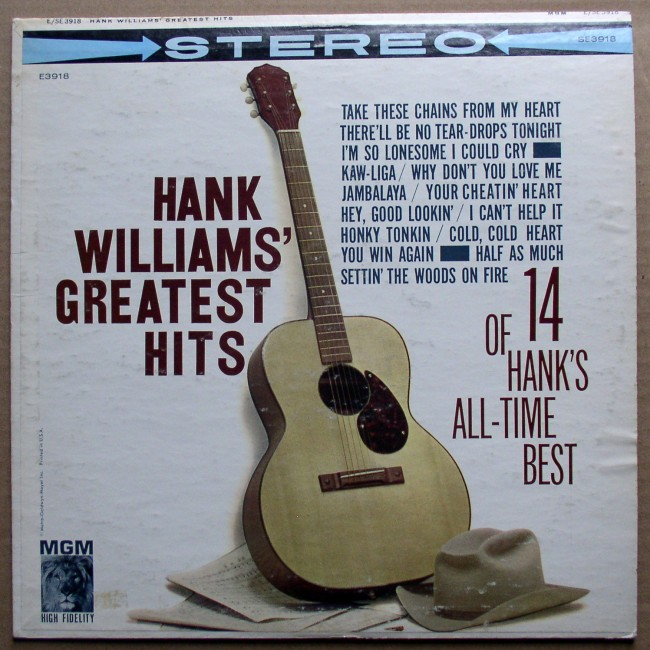 Hank Williams Greatest Hits LP 1