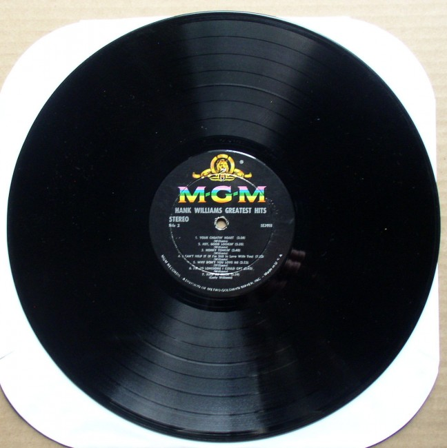 Hank Williams Greatest Hits LP 4