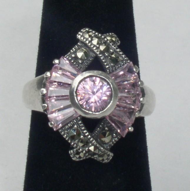 Tourmaline Marcasite Ring 1