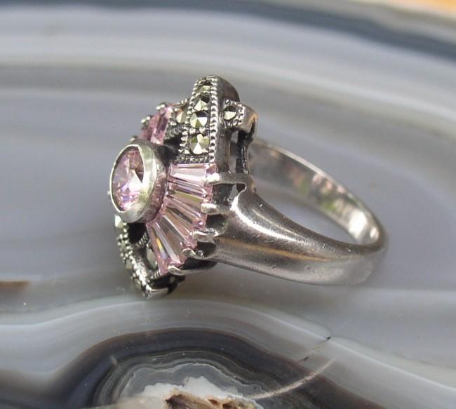 Tourmaline Marcasite Ring 3