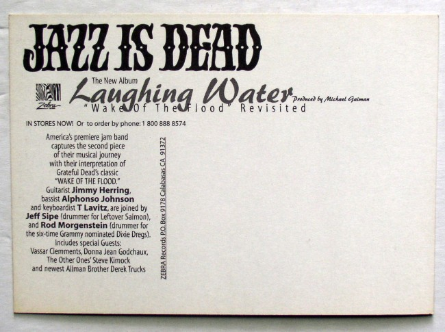 Jazz Is Dead Laughing Water Postcard 2