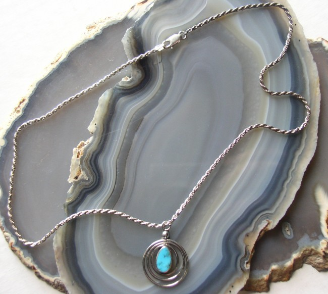 Silver Turquoise Chain 2