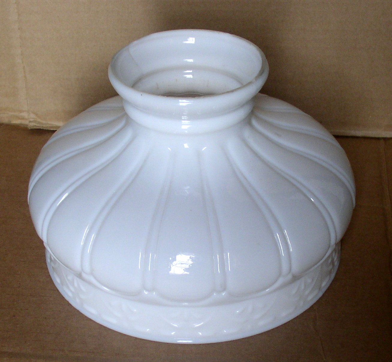 Vintage Coleman Quicklite 329 Opal Glass Gas Lamp Shade