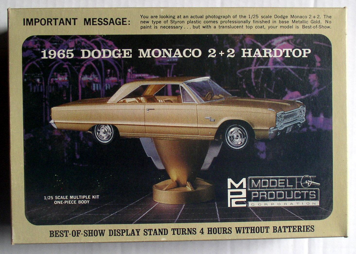 MPC Model Products 3-200 1/25 Scale 1965 Dodge Monaco 2+2 ...