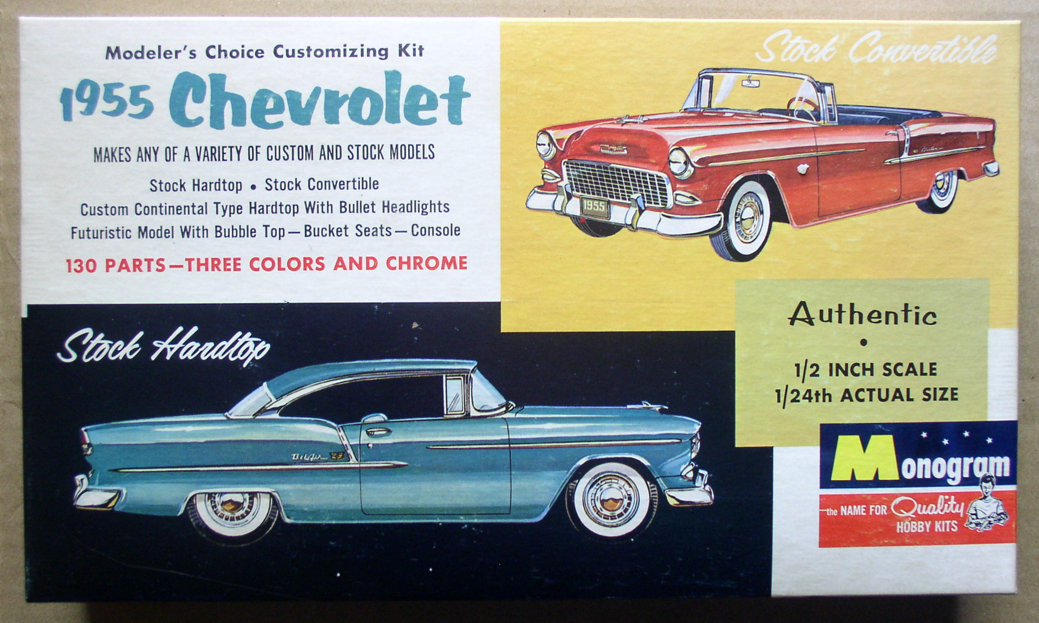 1955 chevrolet 1  24 kit monogram model car with original box 1963  u2013 thingery previews postviews