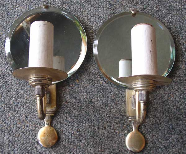 Mirror Sconces Wall Decor: Art Deco Mirrored Silver Wall Sconces