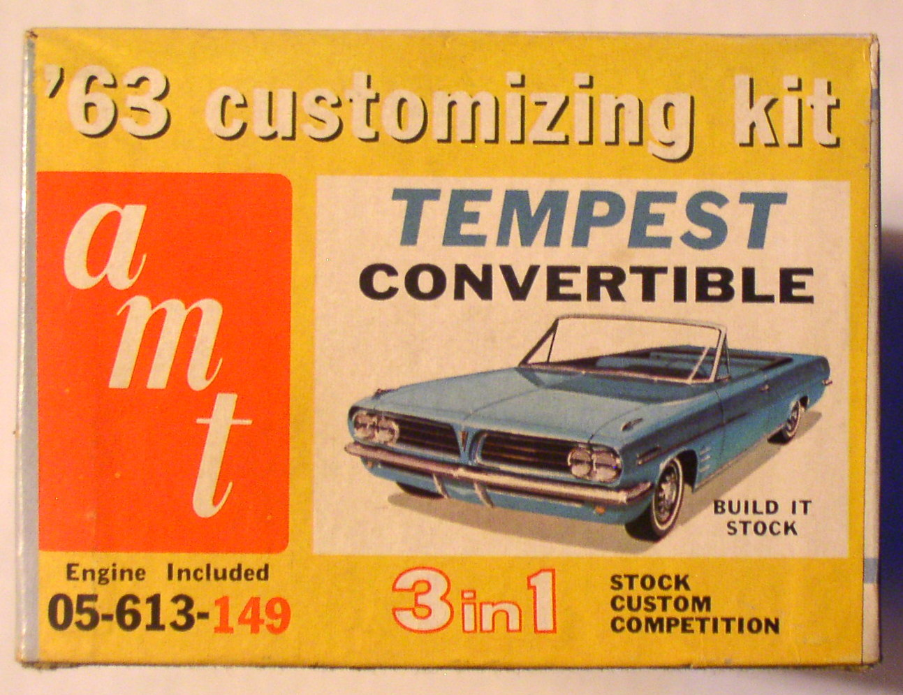 Amt 1963 Tempest Convertible 3 In 1 1 25 Model Car Kit 05