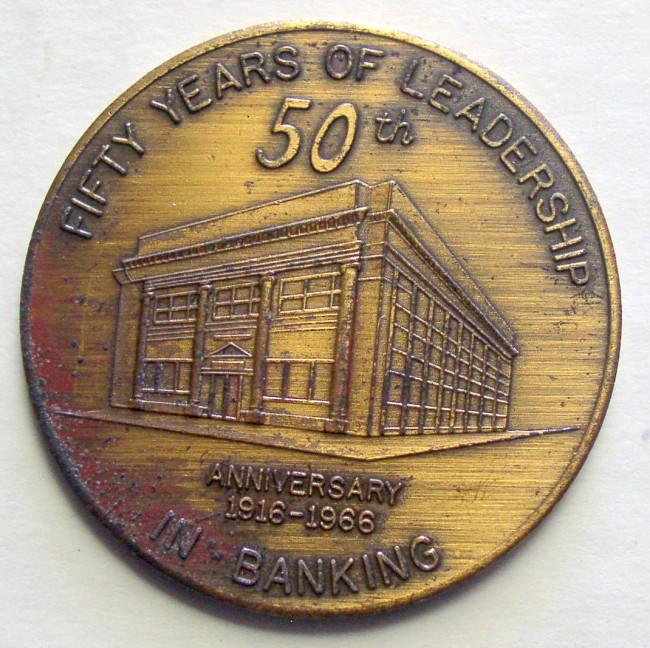 Farmers Bank 50th Anniversary Coin 1