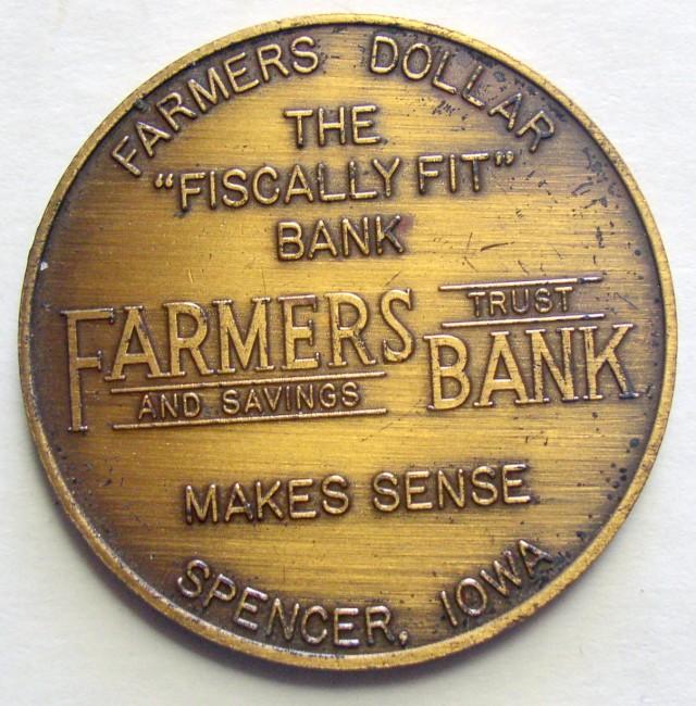 Farmers Bank 50th Anniversary Coin 2