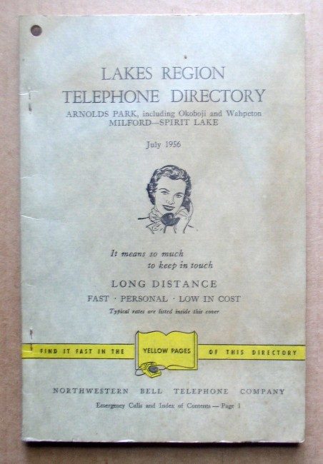 Lakes Region 1956 Telephone Directory 1