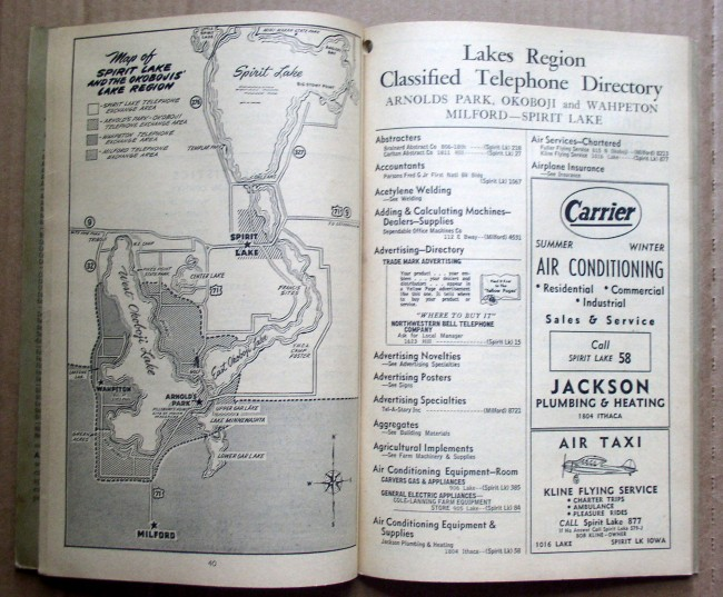 Lakes Region 1956 Telephone Directory 3