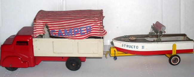 Structo Camper Truck With Boat 1